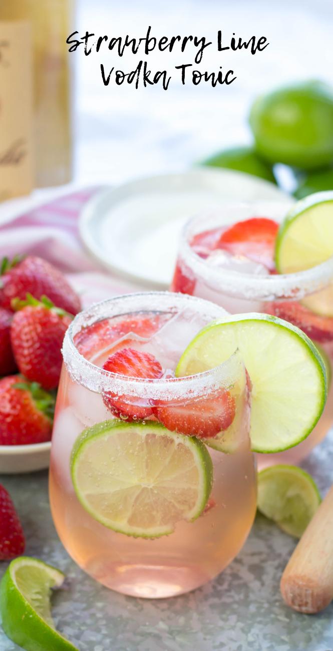 Erdbeer-Limetten-Wodka-Tonikum