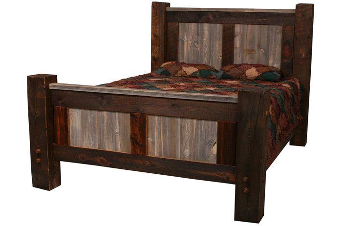 Natural Barnwood Bed - Big Timber Posts | RUSTIC BEDROOM