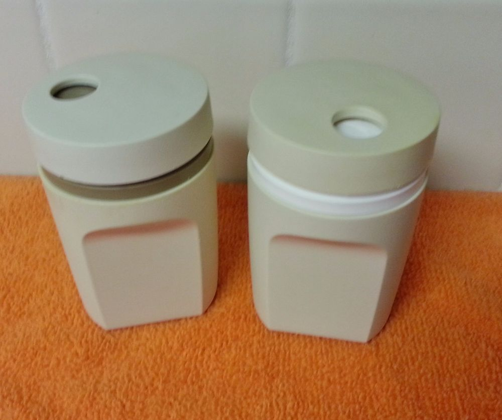 Tupperware Canisters Set Prices For Pinterest - Tupperware salt and pepper shaker set almond minor melts