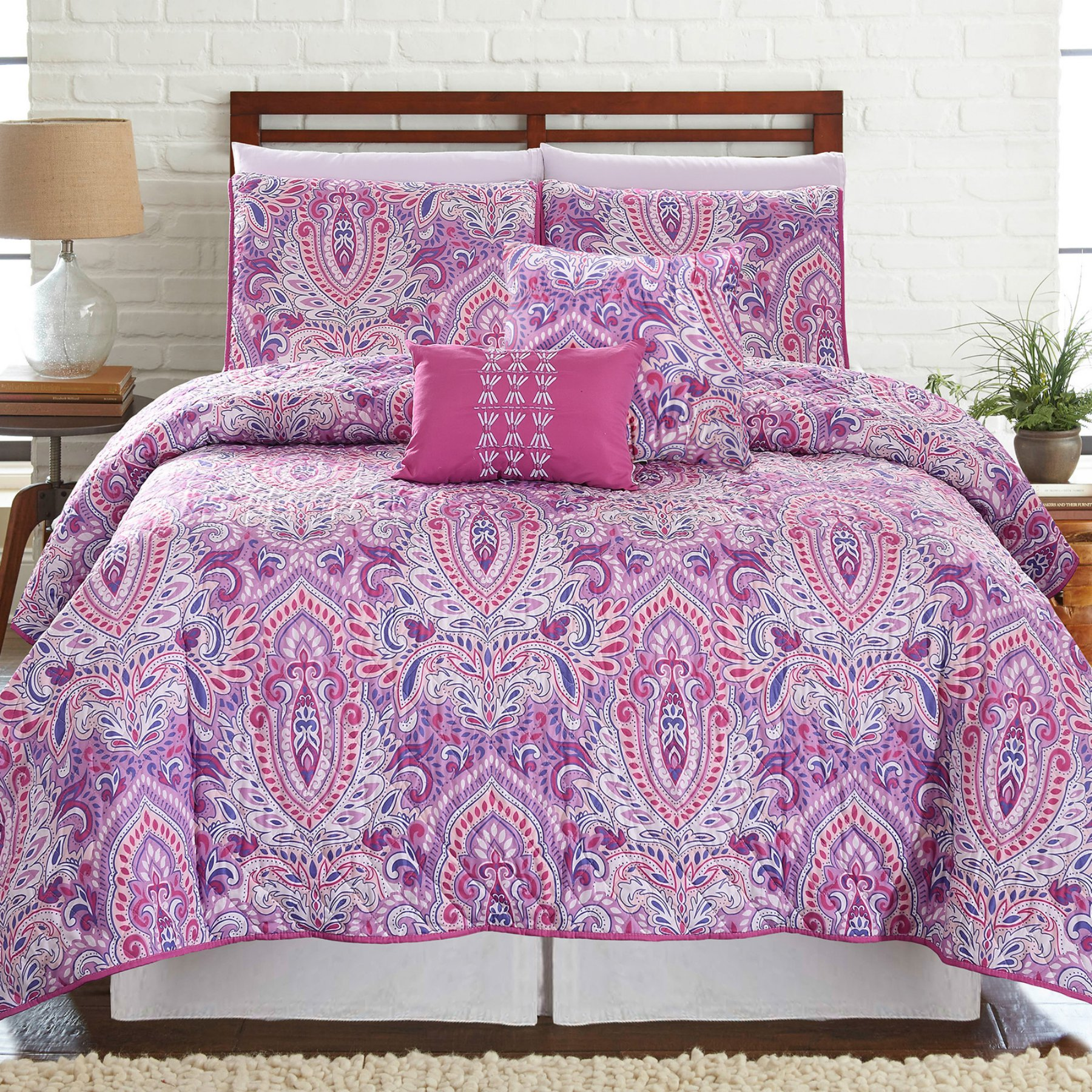 Surat 5 Piece Printed Reversible Quilt Set By Pacific Coast
