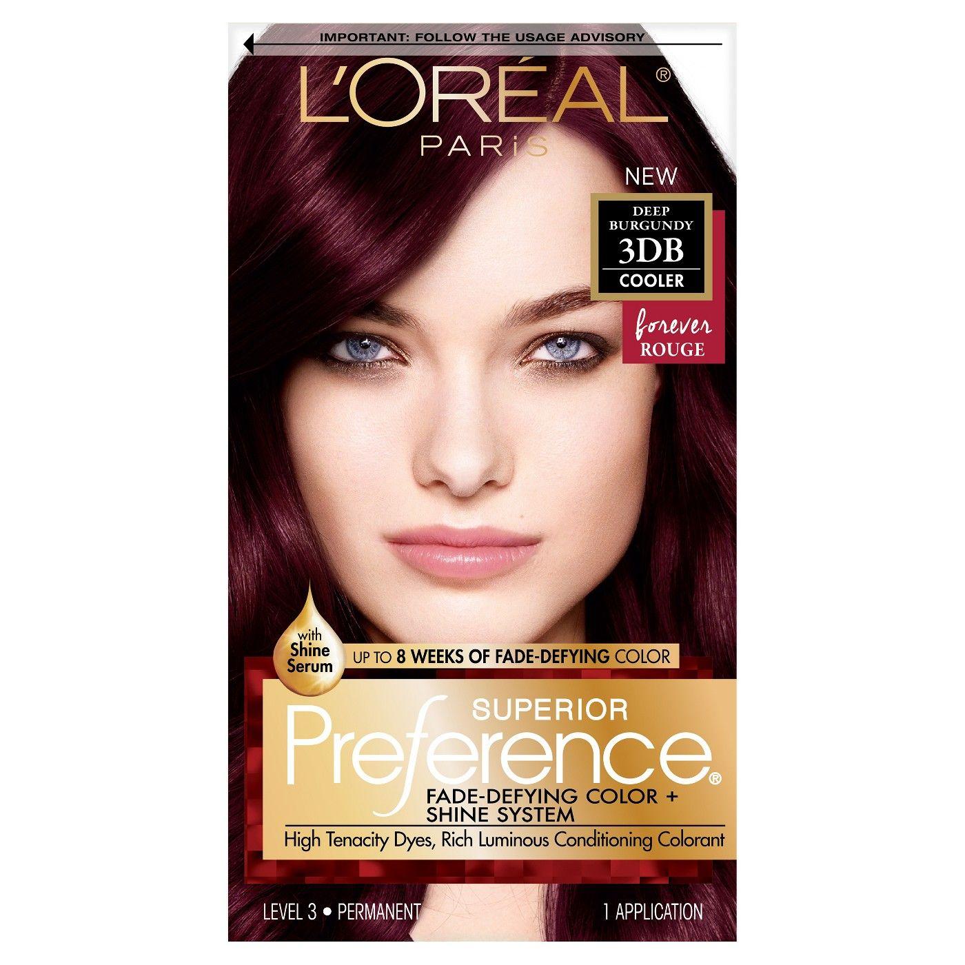 L Oreal Paris Feria Permanent Hair Color Gel Cool Amethyst Loreal Deep Burgundy Hair Color Deep Burgundy Hair