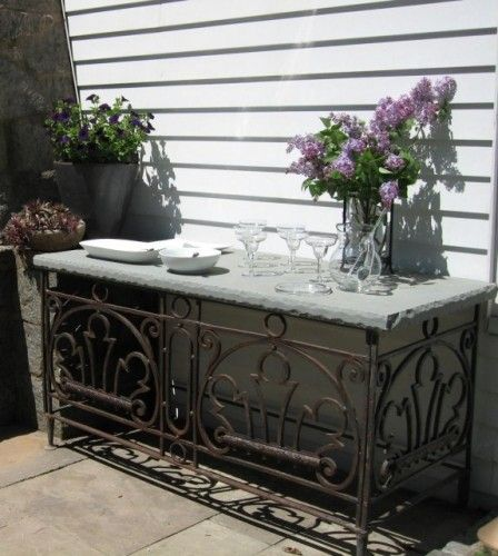 Very Nice Outdoor Serving Table That Will Last A Lifetime Outdoor Serving Table Rustic Outdoor Fireplaces Outdoor Buffet Tables