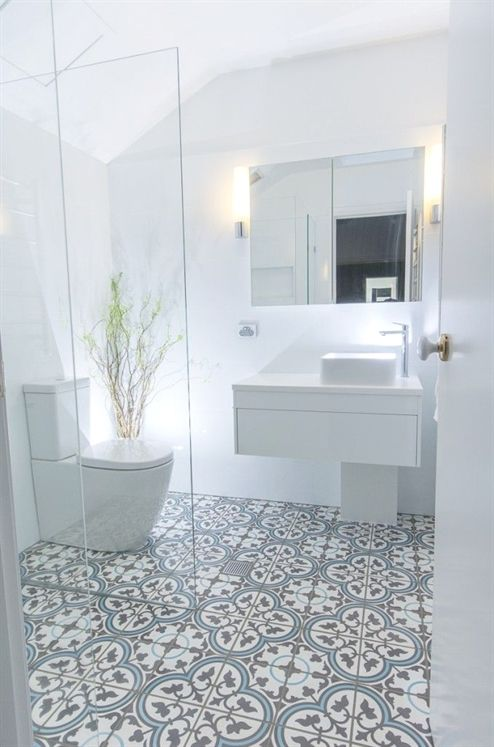 Design Megillah Bathroom Redesign For Under 200: Madame Bonbon (Fabulous Floor Tiles