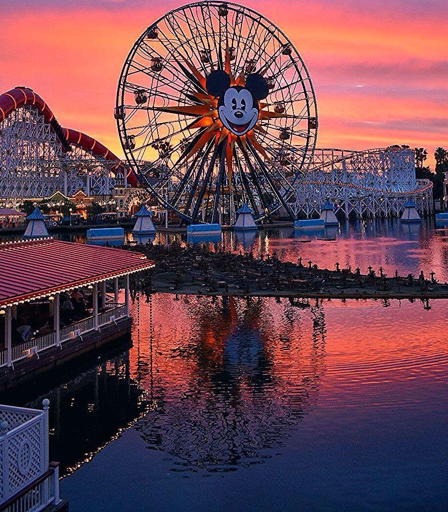 Sunsets over Pixar Pier