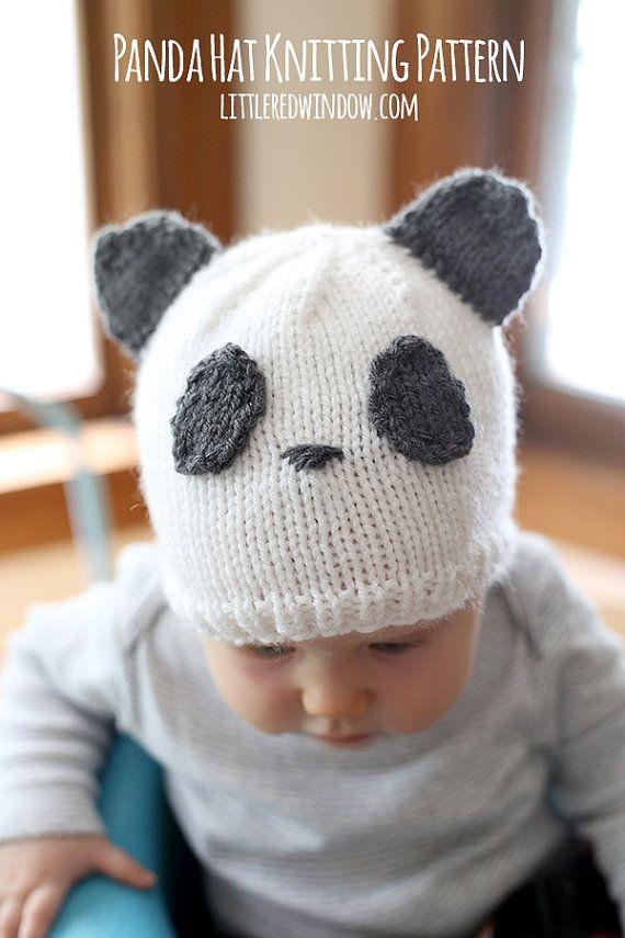 56bf2afcb6c Baby Panda Hat KNITTING PATTERN   Panda Beanie   Panda Baby Hat ...