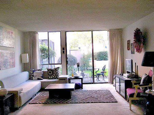 Living Rooms With Rugs On Carpets Apartment Therapy Small Spaces