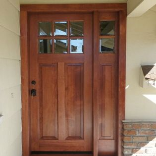 Exterior Simpson Door New Simpson Wood Door With Right Sidelite Gives This Home A Needed Face Lift Wood Exterior Door Wood Doors House Doors
