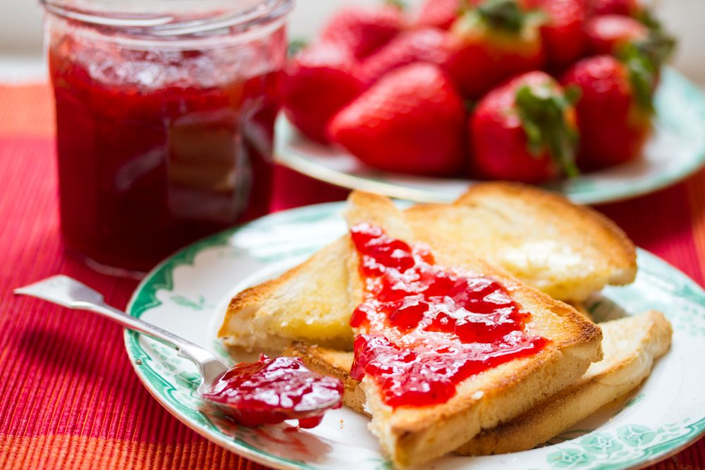 Strawberry Jam food photography