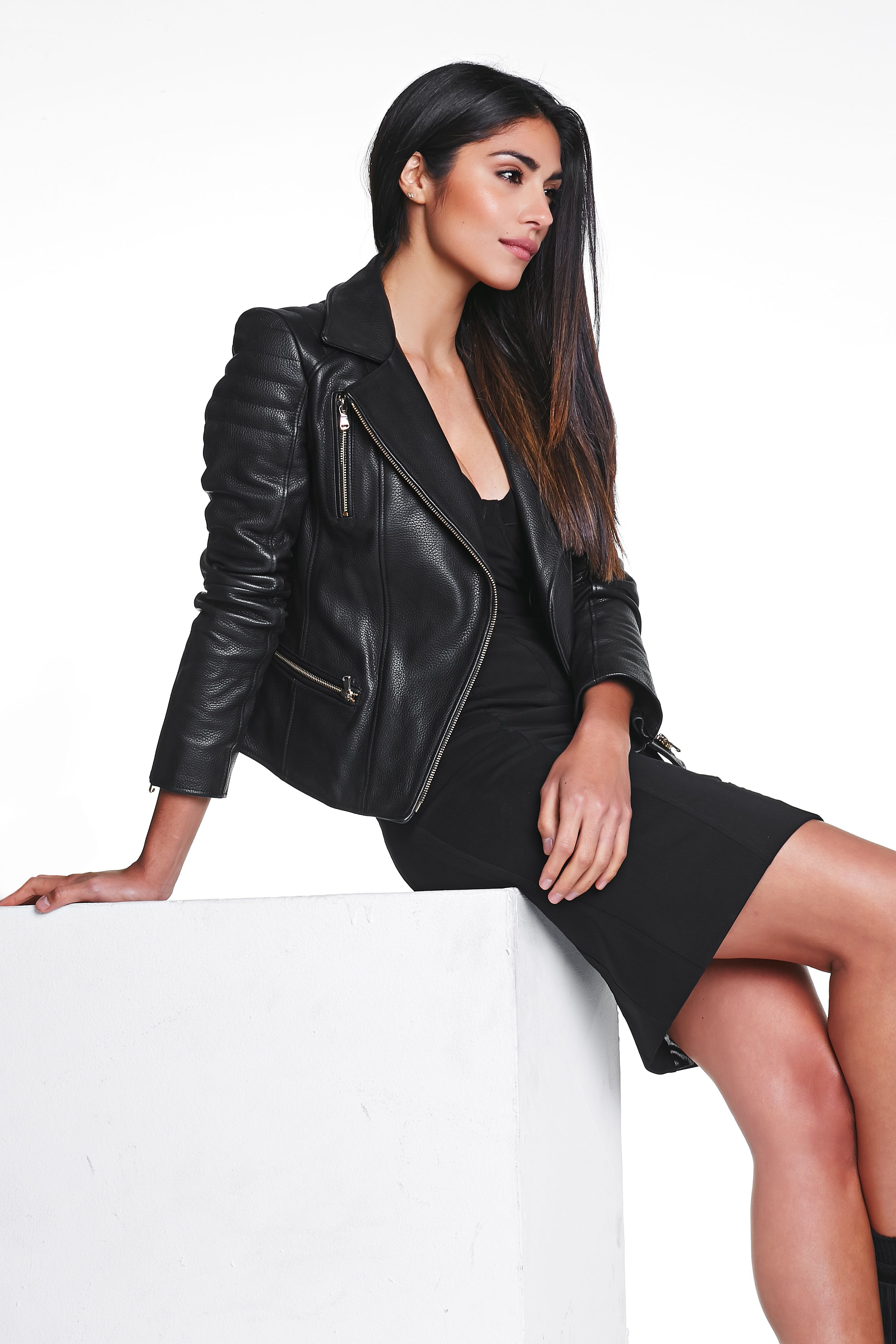 JERRI.JONES leather biker jacket