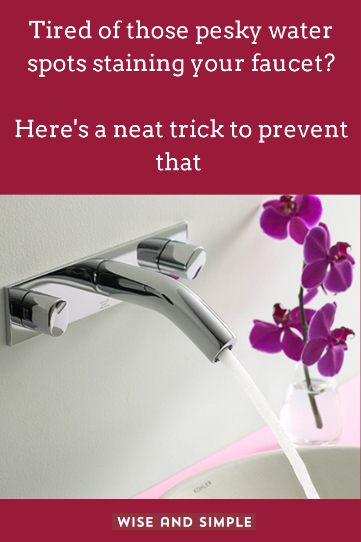 Don\'t you hate how those annoying water spots make a clean faucet ...
