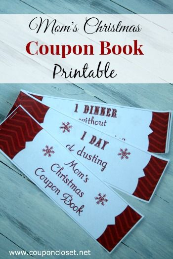 FREE Christmas Coupon Book Printables for Mom and Dad! | Christmas ...