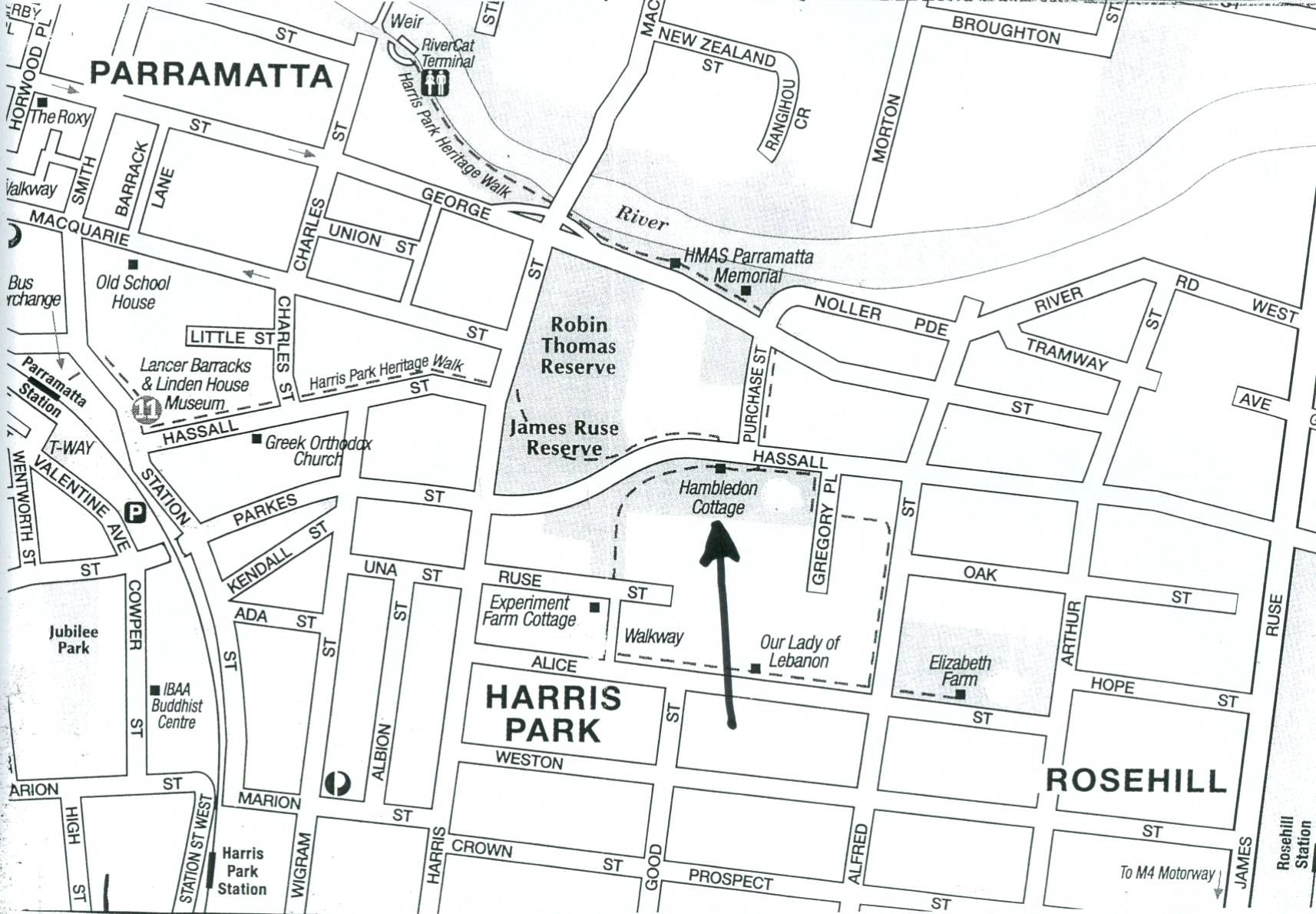 Parramatta Historical Houses Map