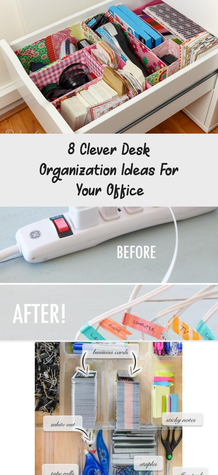 Desk Organization Ideas For Your Office
