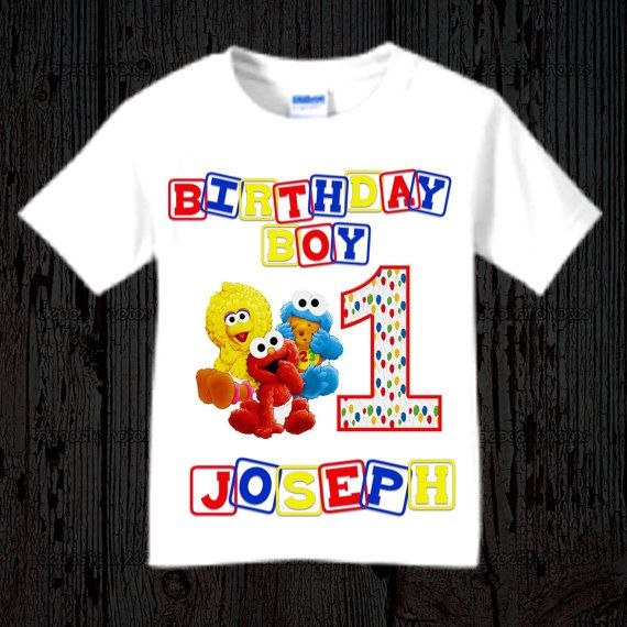 390bd0c7a Sesame Street First Birthday Shirt | Jasper's 1st Birthday in 2019 ...