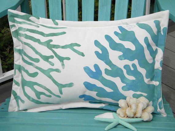 navy stripes pillow blue zazzle com lumbar coral monogram