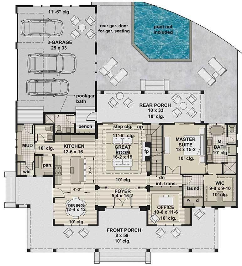 Misty Falls House Plan House Plans Ranch House Plan Farmhouse Plans