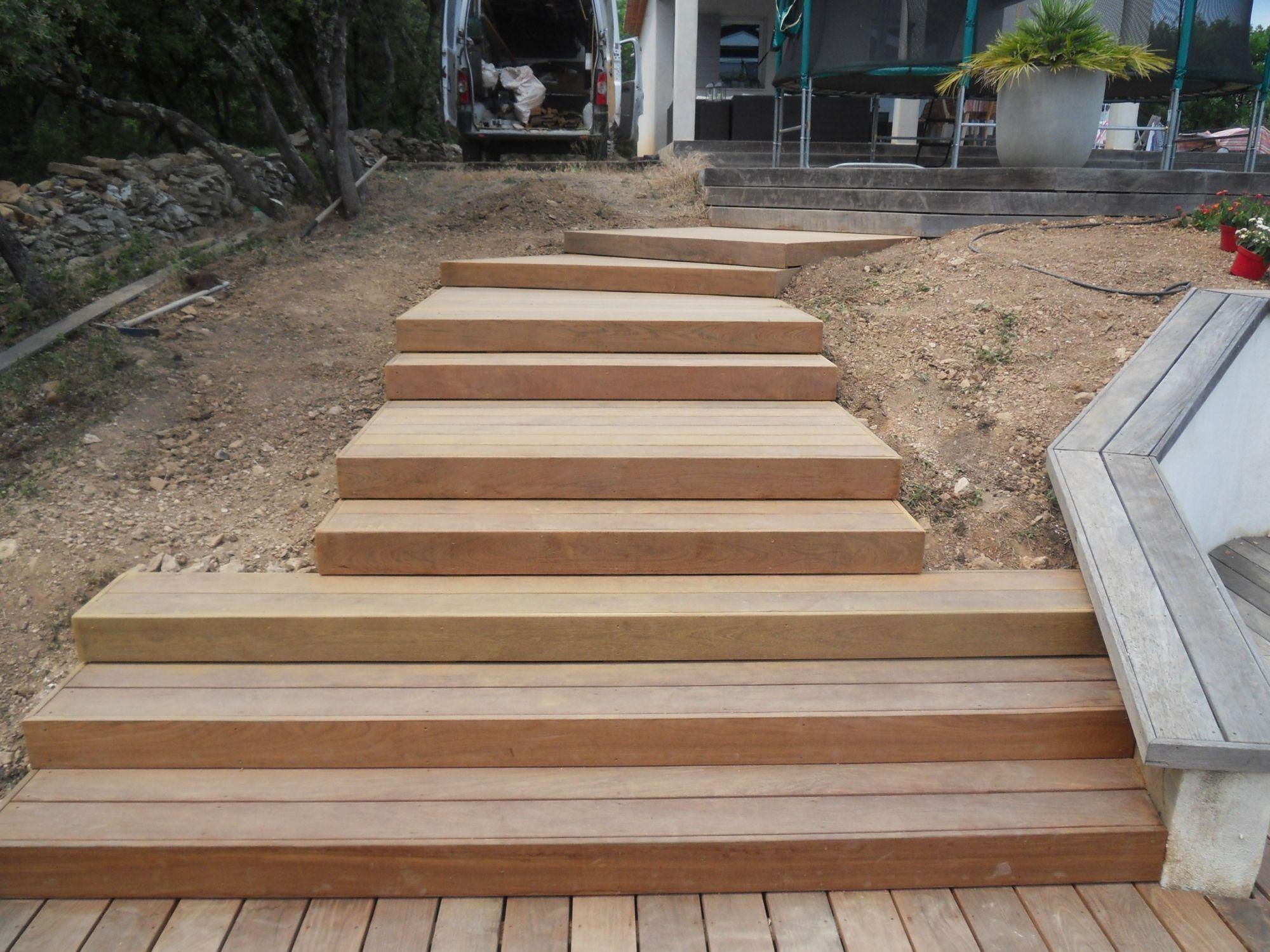 Agrandissement De La Terrasse Et Cr Ation Dun Escalier Bras