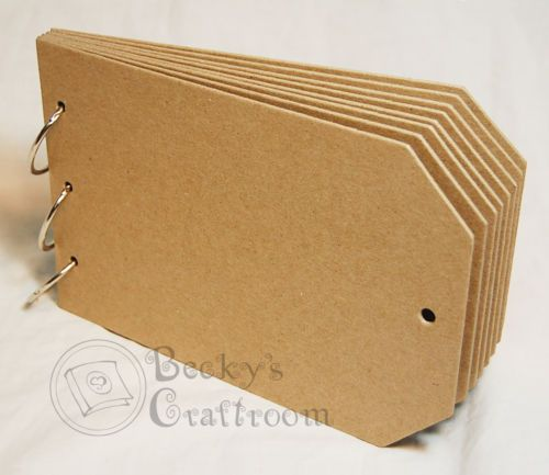 "Bare Chipboard 4-1//4/"" Mini Bracket Frame Album 10 pages window front w// ring"