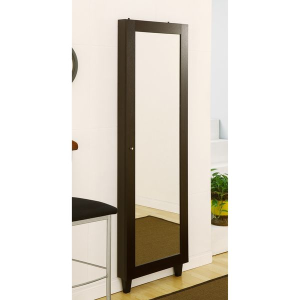 Furniture of America Wallmount Mirror with Jewelry Holder by