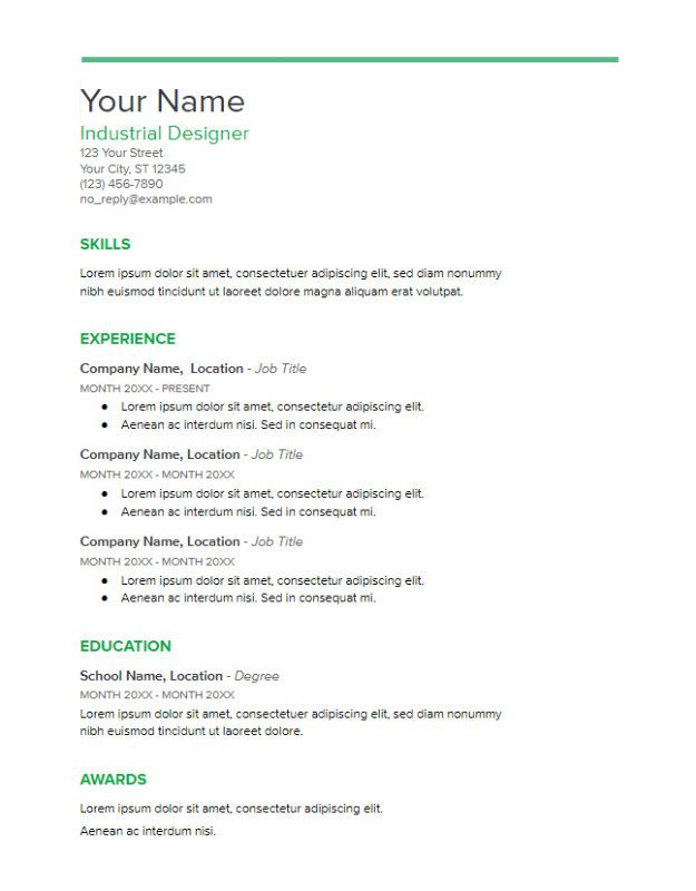 Google Docs Resume Template (Spearmint) Google Docs Resume - google docs resume templates
