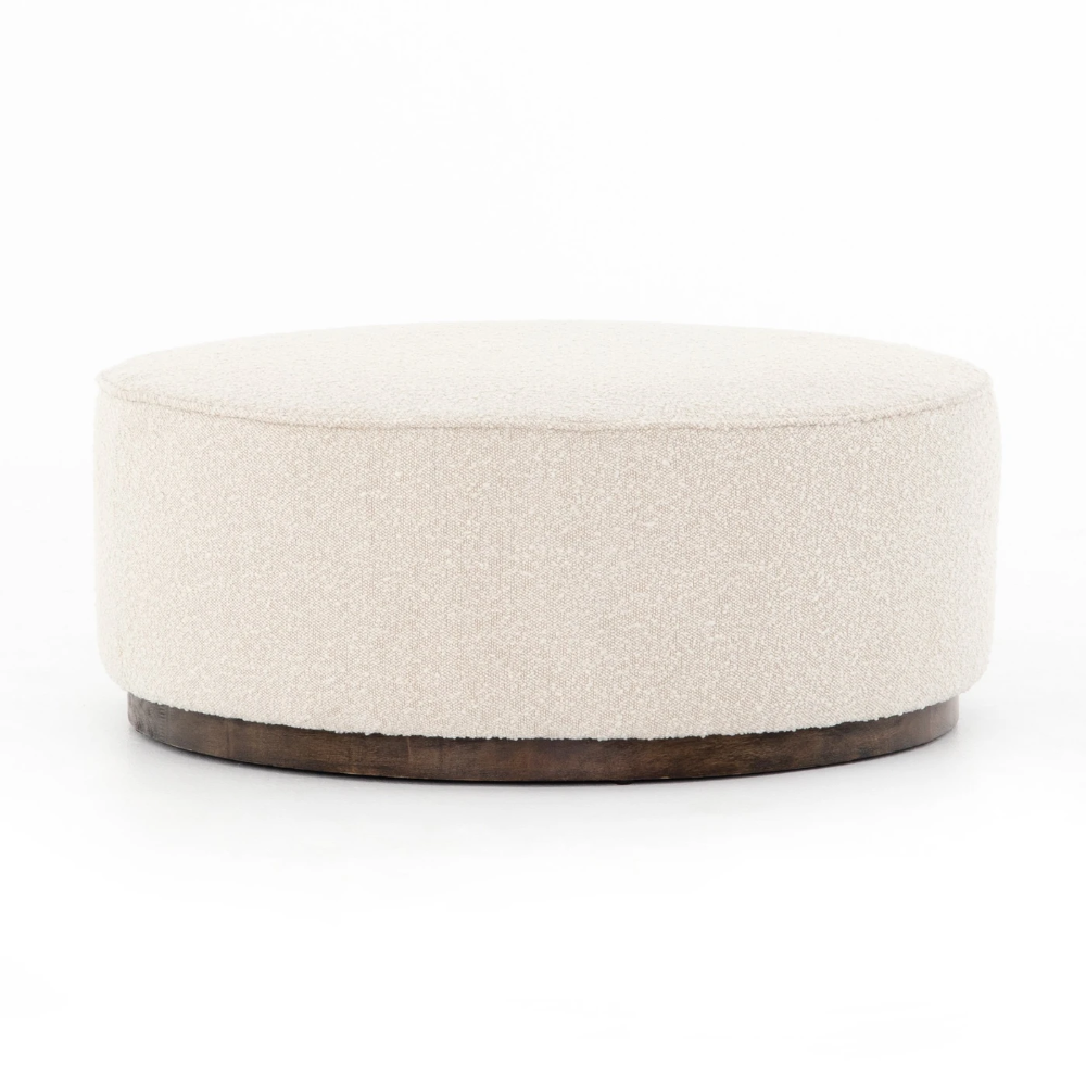 Sinclair Large Round Ottoman Knoll Natural In 2020 Large Round Ottoman Round Ottoman Ottoman