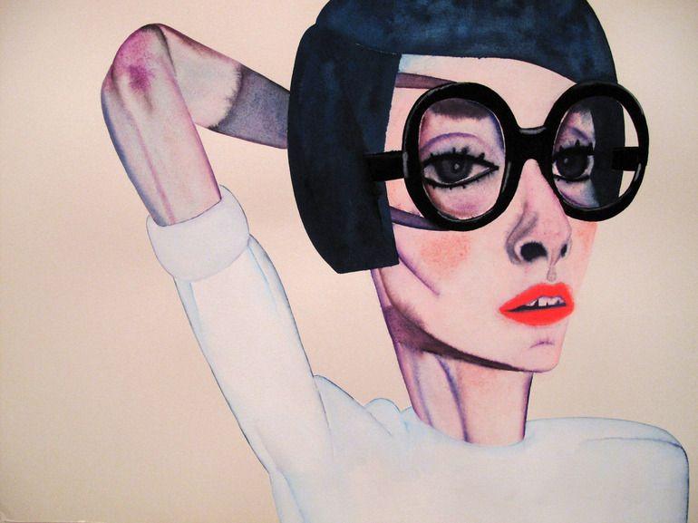 "Saatchi Online Artist: 胡 子; Gouache, Painting ""Lipstick"""