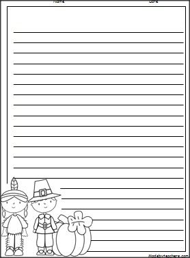 Download this free Thanksgiving writing paper and choose from ...