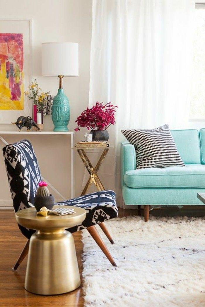 bohemian style furniture. Shabby Chic Furniture Boho Style Establishment Wool Carpet Brass Side Table Bohemian B