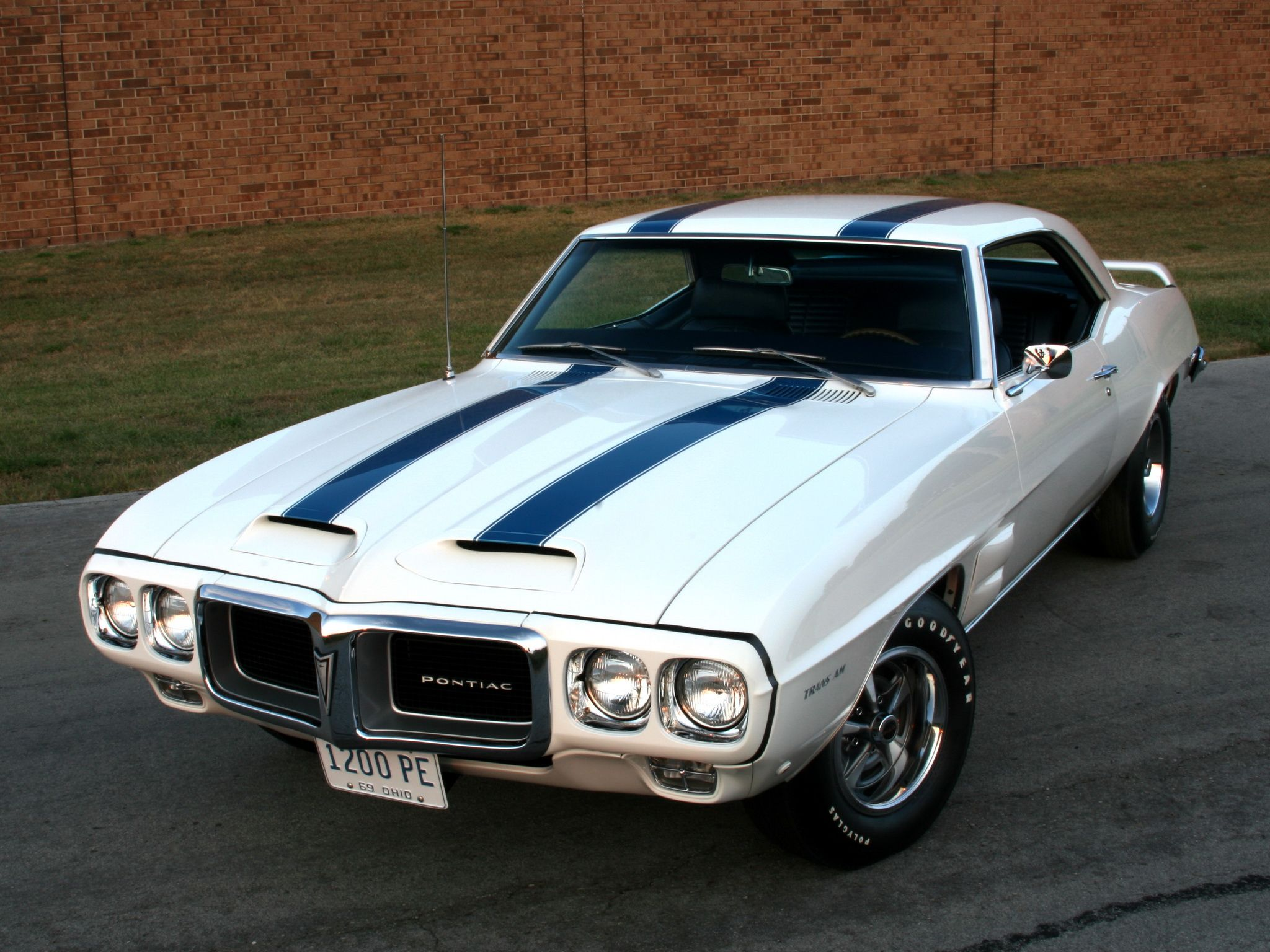 1969 pontiac firebird trans am coupe muscle classic fs wallpaper background