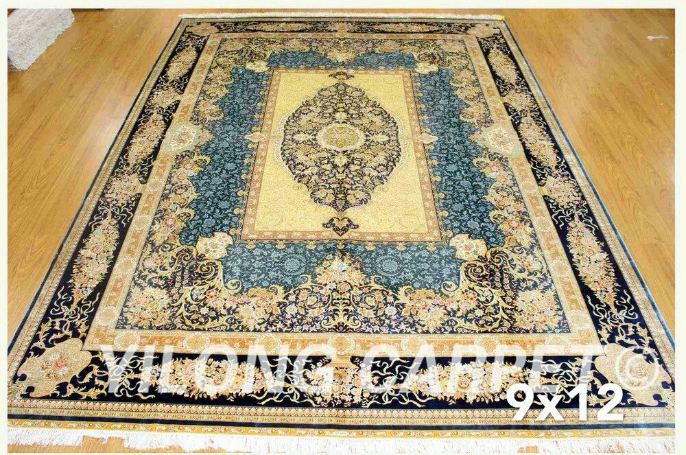 New finished 9*12ft handmade classic persian silk rug from Yilong Carpet factory. #persianrug #luxuriouslife  #handmaderug #orientalcarpet #carpetforbedroom #classiccarpet #classicrug #carpetforlivingroom #tabrizrug #antiquerug #handmadecarpet #turkishcarpet #livingroomdecor #carpetshop #Yilongcarpet