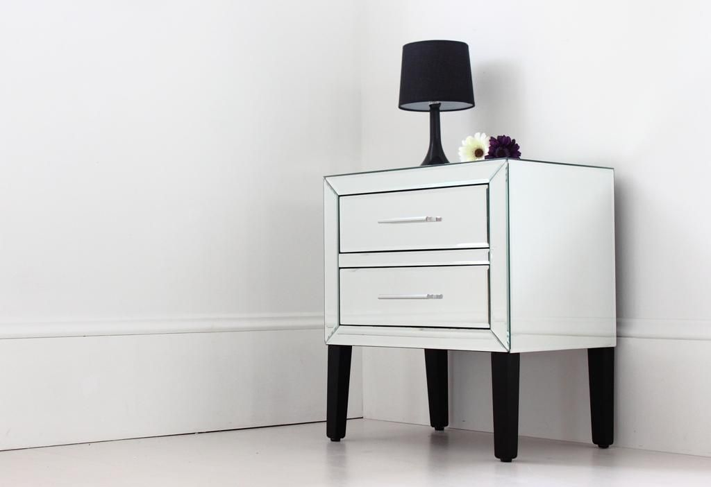 Low Mirrored Bedside Table Clearance Ikea Lack Coffee Table