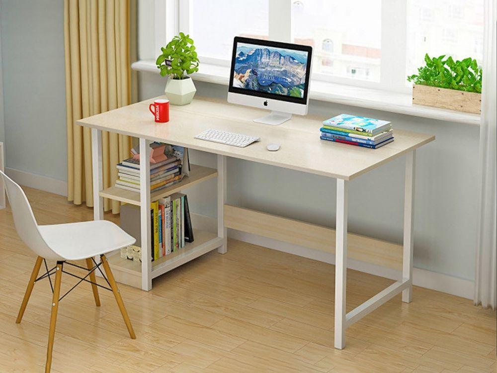 Monroe 120cm Computer Desk White Simple Desk Desk Study Desk