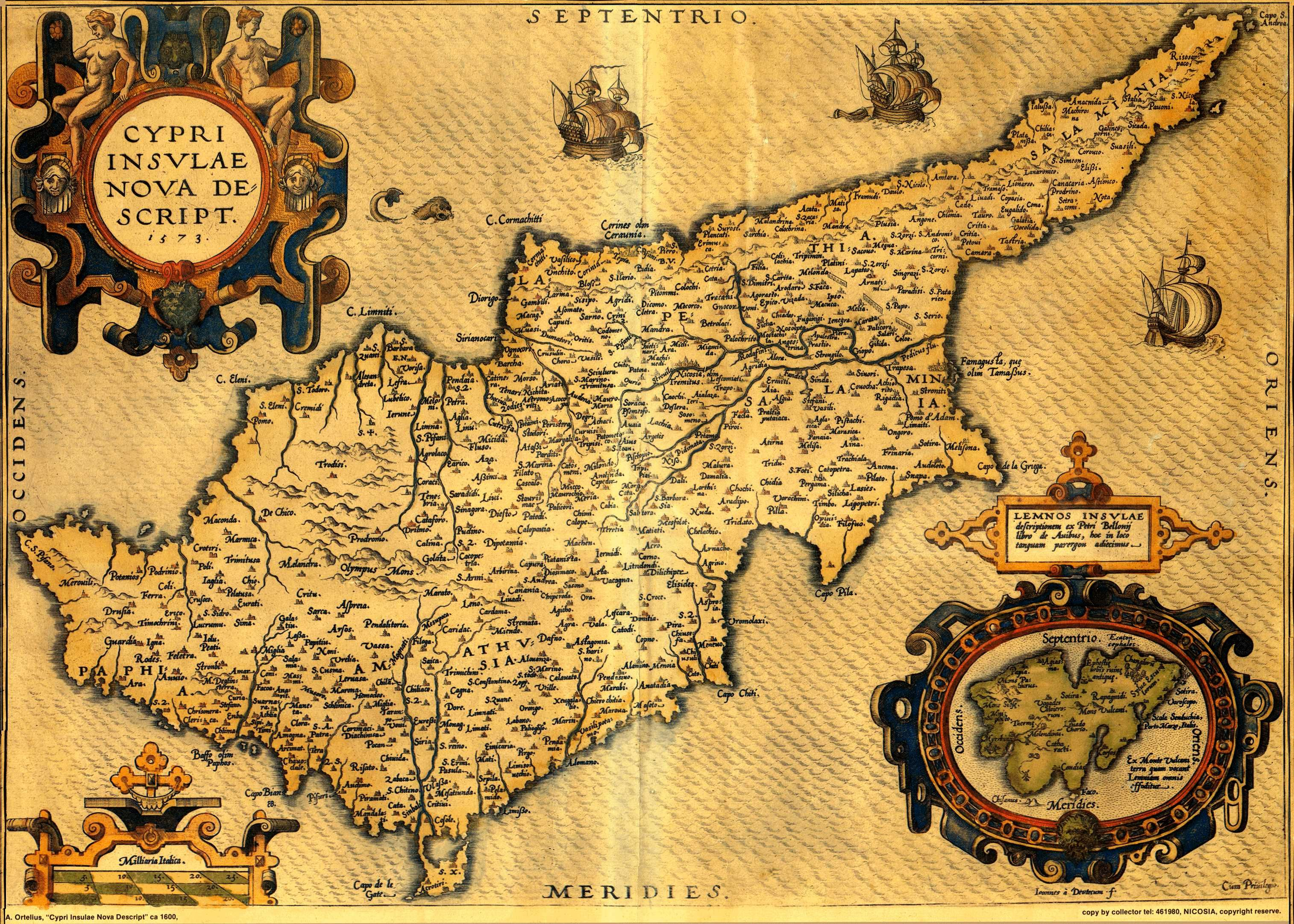 Mapas antiguos del mundo para imprimir buscar con google mapas in in additamentum i ortelius introduced a new map of cyprus coupled with lemnos inside a cartouche his prototype was an extremely rare map of cyprus by gumiabroncs Choice Image