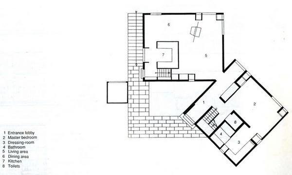 Fisher house louis kahn plan