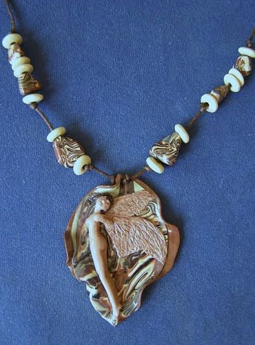 Polymer clay necklace - Ready to fly