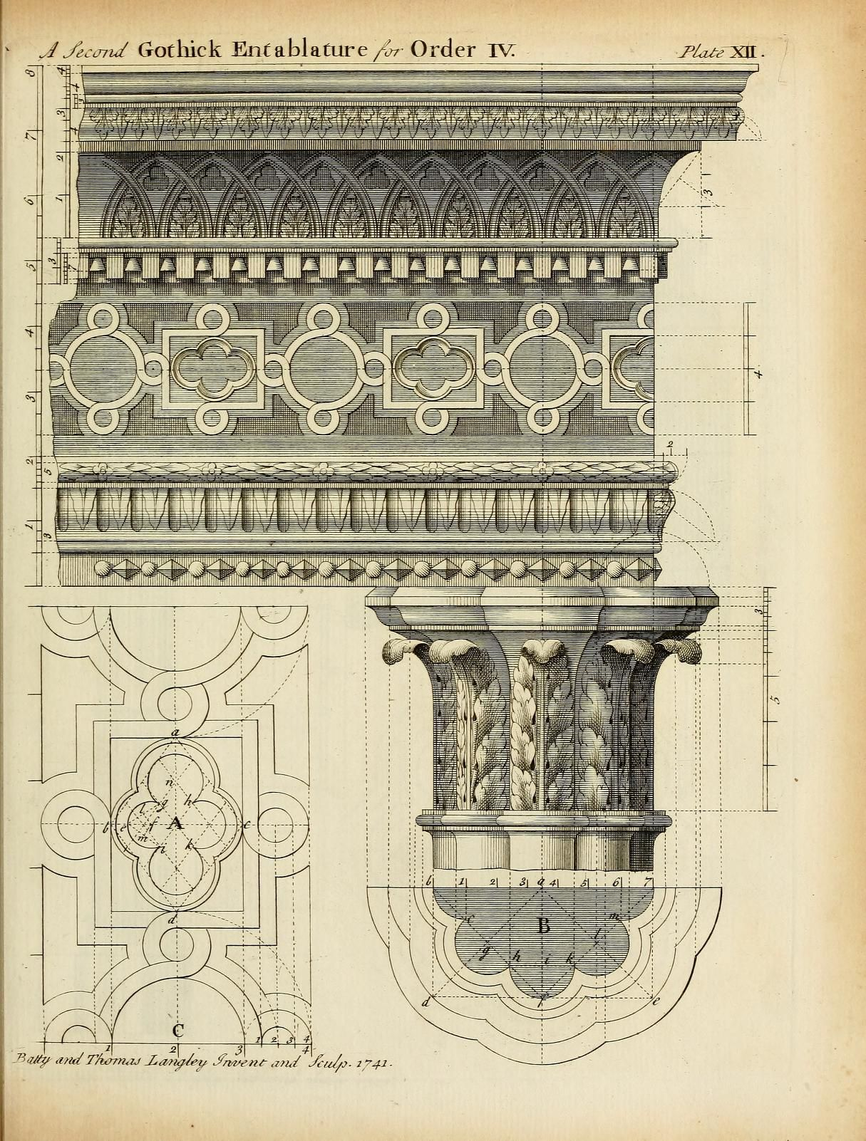 Archimaps Design For A Gothic Entablature