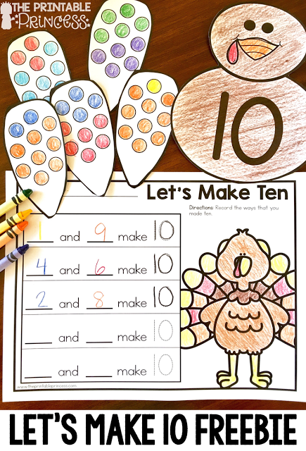 Princess Thanksgiving Worksheets : Thanksgiving games and centers for kindergarten primary