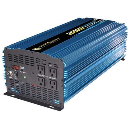 Power Bright Pw3500 12 Power Inverter 3500 Watt 12 Volt Dc To 110 Volt Ac Power Bright Pw3500 12 Power Inverter 3500 Watt 12 Volt Dc To 110 Volt Ac Walmart Co In 2020 Power Inverters Ac Power Solar Panels