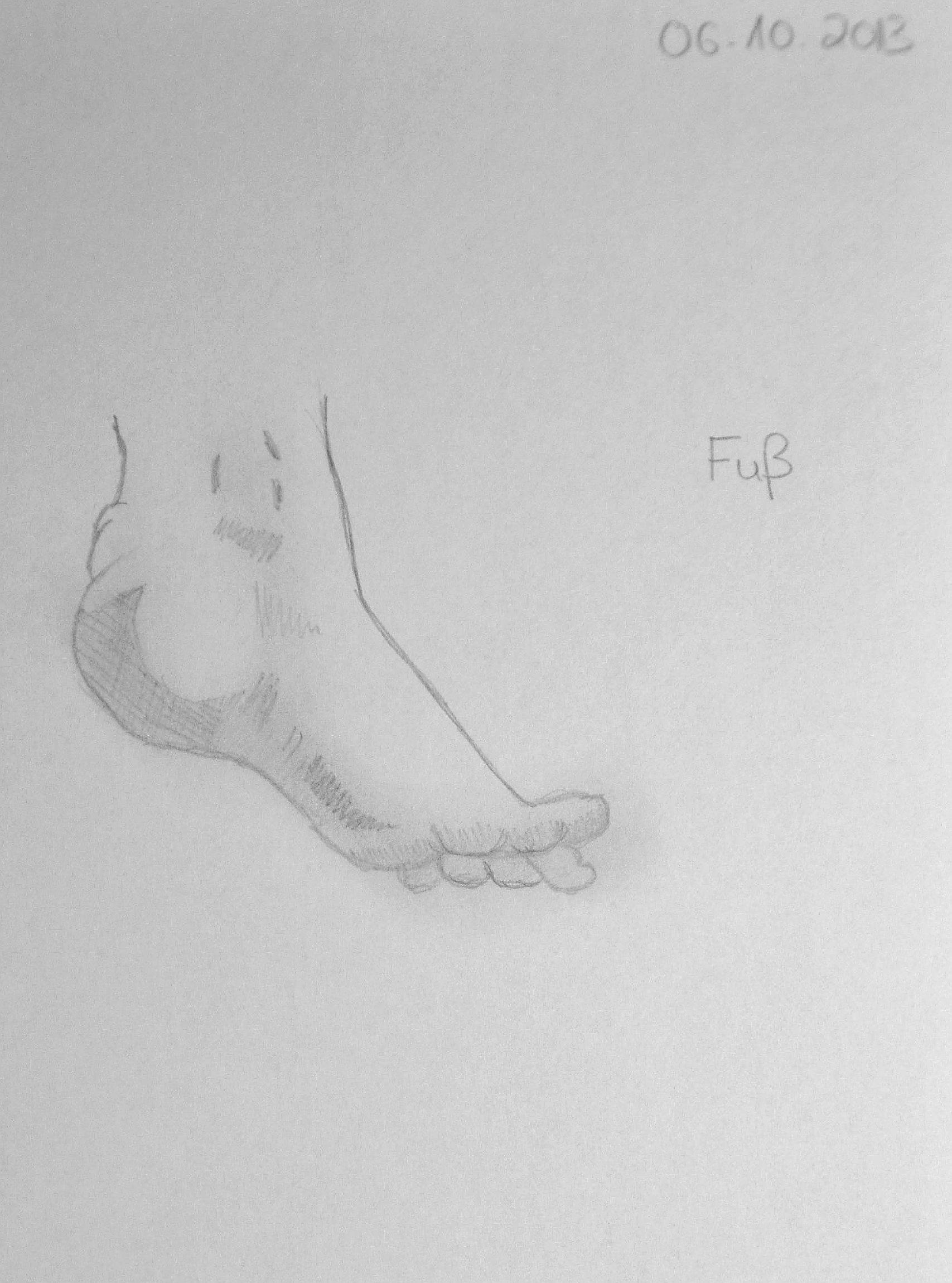 Bleistiftzeichnung #Bleistiftskizze #Anfänger #Fuß #Zeichnen lernen ...
