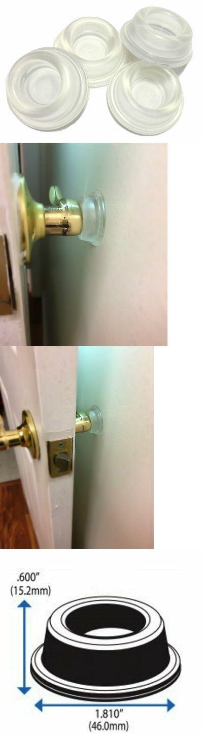 Rubber Door Stopper Bumpers Pack Of 4 Clear Self Adhesive Wall Protectors Door Stopper Door Bumper Wall