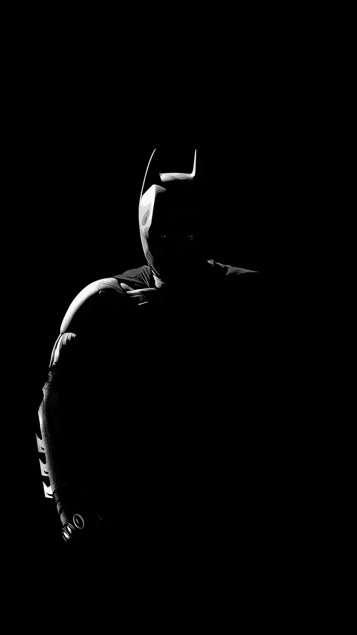 Black Wallpaper Amoled : Dark Knight  Amoled Lockscreen Homescreen Wallpapers ...