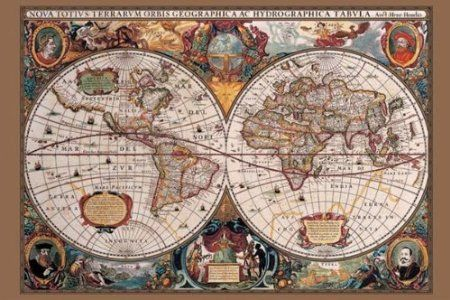 Amazon pyramid 17th century world map poster print home amazon pyramid 17th century world map poster print home kitchen gumiabroncs Images