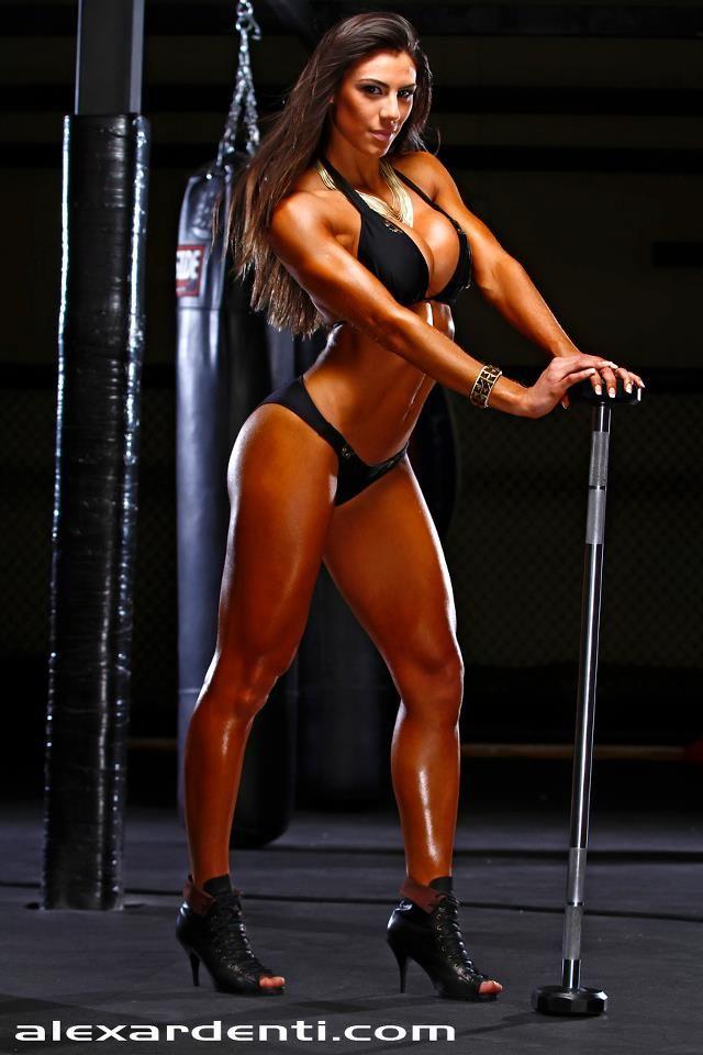sexy Brazilian muscle girl