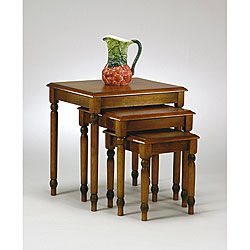 Shop For Office Star Knob Hill 3 Piece Nesting Table Set. Get Free Shipping