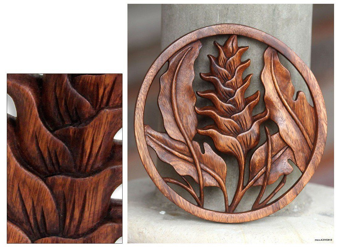 Living room wall decoration novica wooden relief panel balinese wood