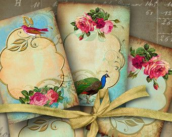 JEWELRY HOLDERS No2 Digital Collage Sheet Printable by ArtCult