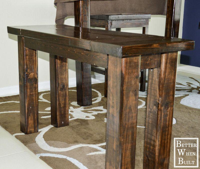 Better When Built Counter Height Bench Bar Height Bench Diy Bench