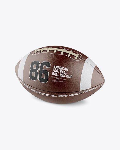 Download American Football Ball Mockup Halfside View In Object Mockups On Yellow Images Object Mockups Mockup Free Psd Free Psd Mockups Templates Mockup