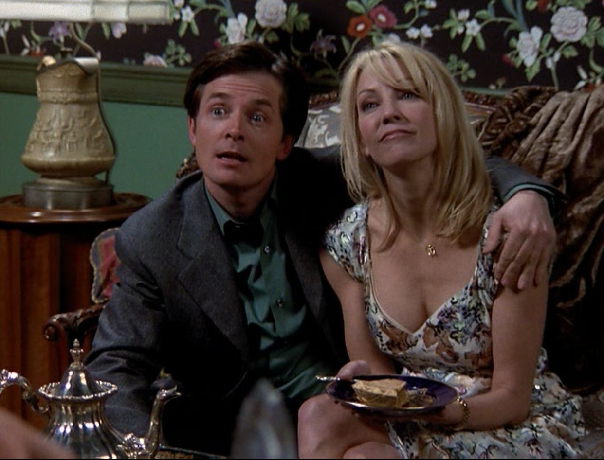 Michael J Fox And Heather Locklear On Spin City S Thanksgiving Episode Favorite Tv Characters Michael J Spin City