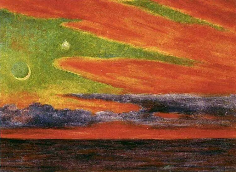 Diego Rivera, Tramonto ad Acapulco, 1956